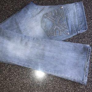 Pocket embellished jeans